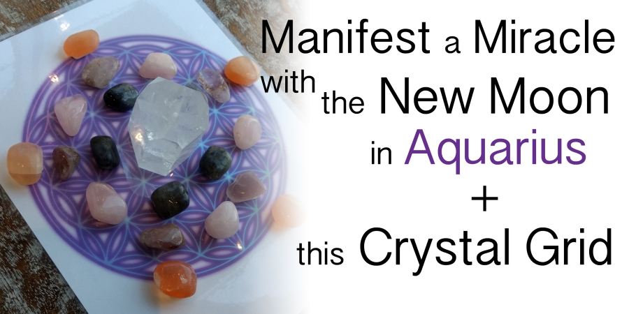 New Moon In Aquarius + Crystal Grid